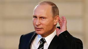 Putin ear cocked